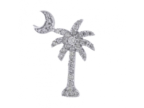 Diamond palmetto and moon pendant dcp 1013 pendants necklaces diamond palmetto and moon pendant mozeypictures Choice Image