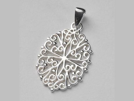 Sterling Oval Filigree Gate Pendant by Southern Gates