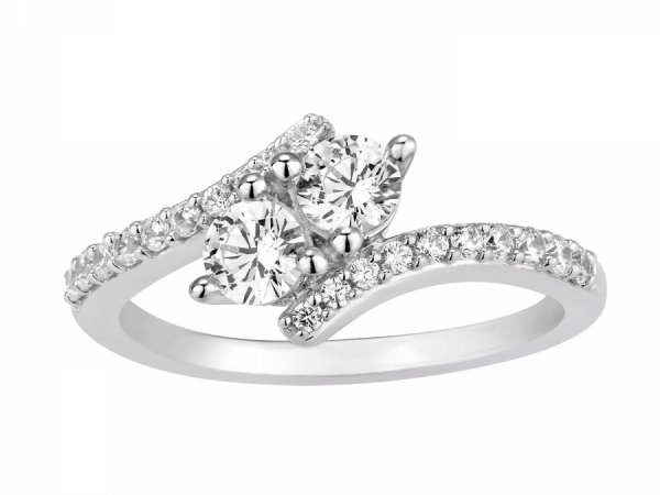 3/4 ctw. Two-Stone Diamond Ring by For U & I Two-Stone Diamond Jewelry